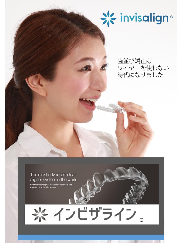 歯並び矯正はワイヤーを使わない時代になりました